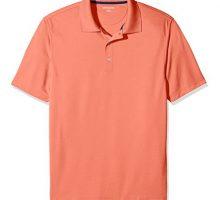 Amazon Essentials Men RegularFit QuickDry Golf Polo Shirt Coral XLarge