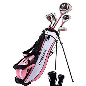 Precise Distinctive Girls Right Handed Pink Junior Golf Club Set for Age 9 to 12
