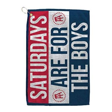 SATURDAYS ARE FOR THE BOYS Golf Towel