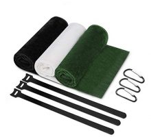 Sarissa Golf Towels for Bag Microfiber Golf Club Towels with Carabiner Clip FadeResistant Green Club Cleaning Towels 16×13 in Convenient Golf Towels 3 Packs