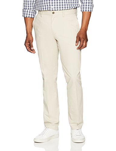 Amazon Essentials Men SlimFit WrinkleResistant FlatFront Chino Pant Stone 34W x 29L