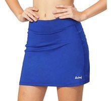 Baleaf Women Active Athletic Skort Lightweight Skirt with Pockets for Running Tennis Golf Workout Blue Size M