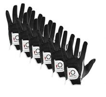 FINGER TEN New Mens RainGrip Hot Wet Weather Comfort Extra Value XL Black Left Hand LH and Right Hand RH Durable Golf Gloves Value 6 Pack