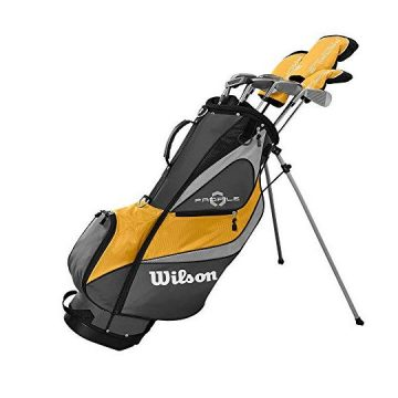 Wilson Profile XD Men RH Flex Graphite Steel Golf Club Stand Bag Set Gold