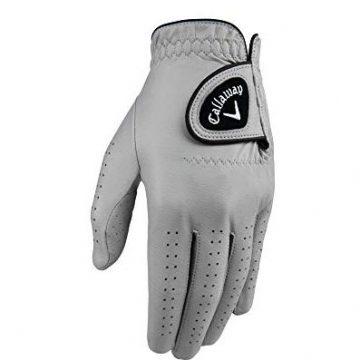 Callaway Golf Men Opticolor Leather Glove Worn on Left Hand Cadet XLarge Grey