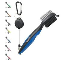 JZHY Golf Club Brush and Club Groove Sharpener Cleaner Tool Set with 2 Ft Retractable Zipline and Carabiner, Great Golf Gift A Must Have Kit for Golf Club Bag Accessories