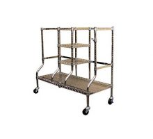 SafeRacks Golf Equipment Organizer Rack | HeavyDuty Steel Wire Shelf ExtraWide | Fits 2 ExtraLarge Bags Plus Accessories