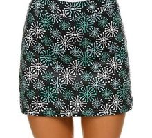 Ekouaer Women Active Performance Athletic Skorts Sport Clothing Golf Skirts with Safe Short XXL Green Flower