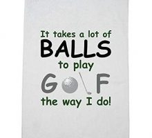 Hollywood Thread It Take A Lot of Balls to Play Golf Like I Do  Funny Golfing Golf Towel with Carabiner Clip