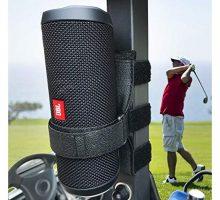 HomeMount Portable Speaker Mount for Golf Cart Accessories  Adjustable Strap Fits Bluetooth Wireless Speaker Strap Attachment to Golf Cart Heater Beach Umbrella Boat