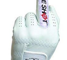 Nice Shot The Bird Cabretta Leather Golf Glove Men Left Hand White Medium M