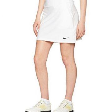 Nike Women Golf Tournament Knit Skort White Black LG