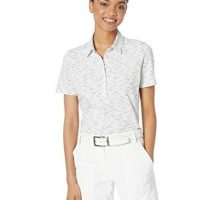 Skechers Golf Women Spacedye Heathered Short Sleeve Golf Polo II Desert Flower XL