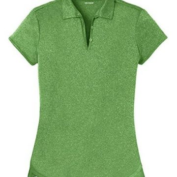 DRIEquip Ladies Heathered Moisture Wicking Golf PoloGreen2XL