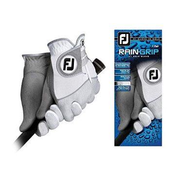 FootJoy Men RainGrip Pair Golf Glove White Cadet Medium Pair
