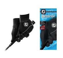 FootJoy Men WinterSof Pair Golf Glove Black Large Pair
