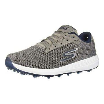 Skechers Men Max Golf Shoe Gray Navy Textile 9 M US