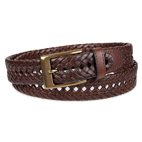 Dockers Men Leather Braided Casual and Dress Belt