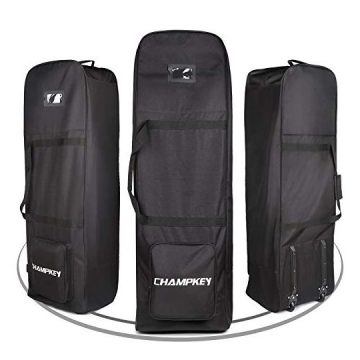 Champkey Traveler Golf Travel Bag  Heavy Duty 900D Polyester Oxford WearResistant Excellent Zipper Universal Size with Wheels