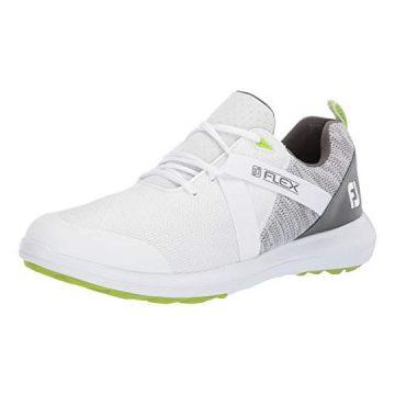 FootJoy Men Flex Golf Shoes White 11 M Grey US